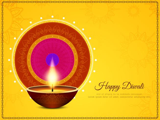 Abstrakter schöner glücklicher Diwali-Festival-Grußhintergrund vektor