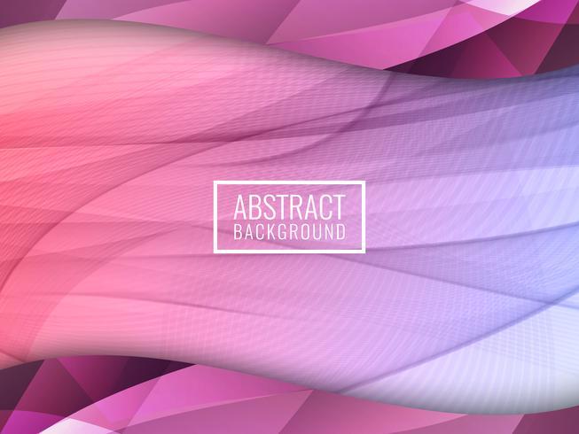 Abstrakter bunter wellenförmiger Hintergrund vektor