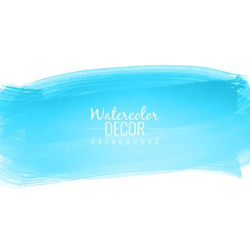 Abstrakt färgstark blå akvarell stroke design bakgrunds illus vektor