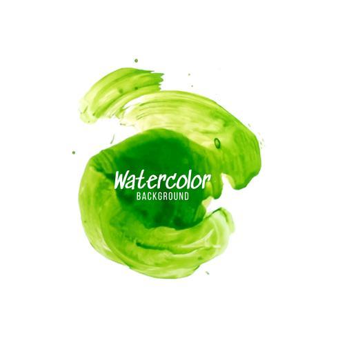 Abstrakt grön akvarell design bakgrund vektor