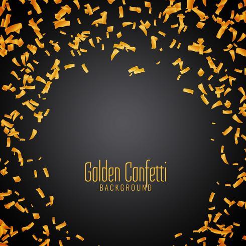 Abstrakter goldener Confettihintergrund vektor