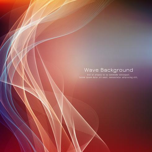 Abstrakter stilvoller bunter Wellenhintergrund vektor