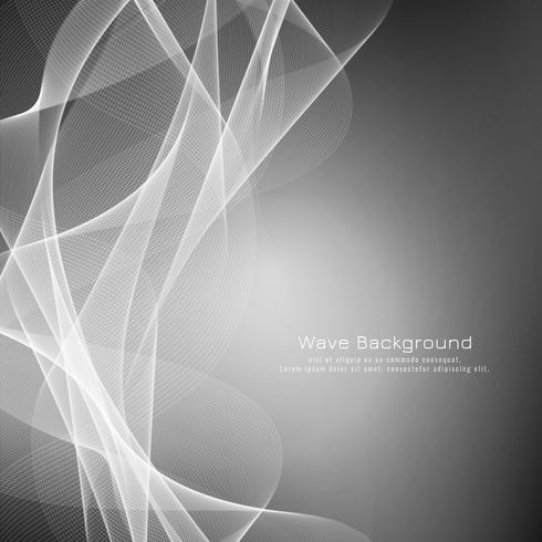 Abstraktes graues Wellenhintergrunddesign vektor