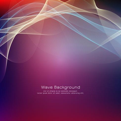 Heller Hintergrund der abstrakten bunten Welle vektor