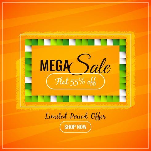 Abstrakter bunter Mega- Verkaufhintergrund vektor