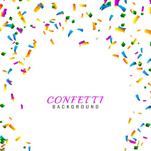 Abstrakter bunter Confettihintergrund vektor