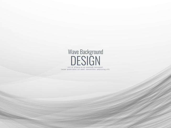Abstrakt grå vågig bakgrund vektor