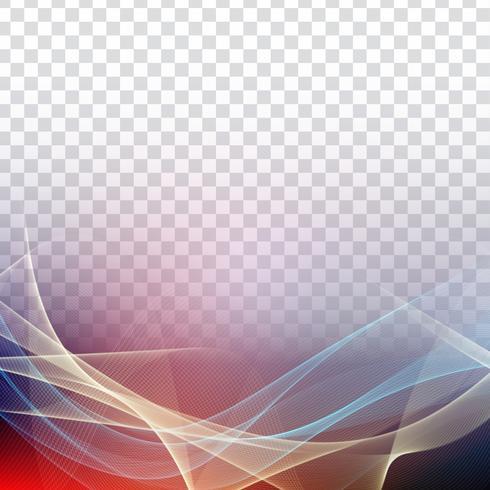 Transparentes backround der abstrakten bunten Welle vektor