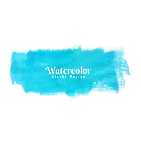Abstrakt blå akvarell stroke design bakgrund vektor
