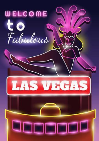 Las Vegas Licht vektor