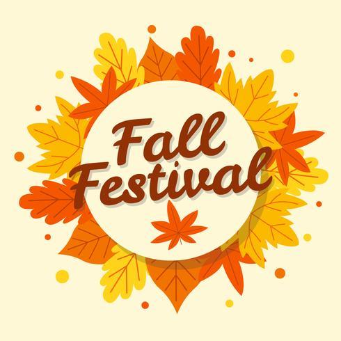 Flat Fall Festival Bakgrund vektor