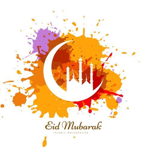 Abstrakt färgrik grunge ramadan kareem kortdesign vektor