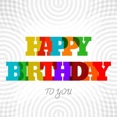 Vacker lycklig födelsedag text bakgrund vektor