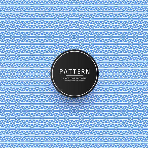 Schöner abstrakter blauer geometrischer Musterhintergrund vektor