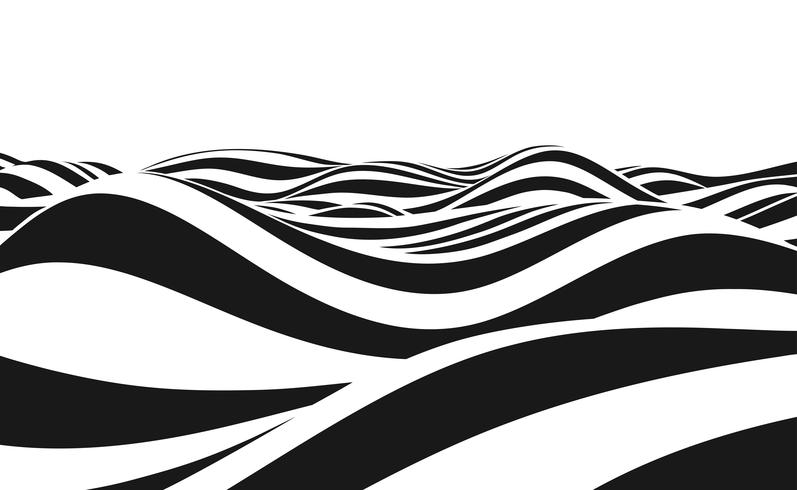 Abstrakt bakgrund av vågor. vektor