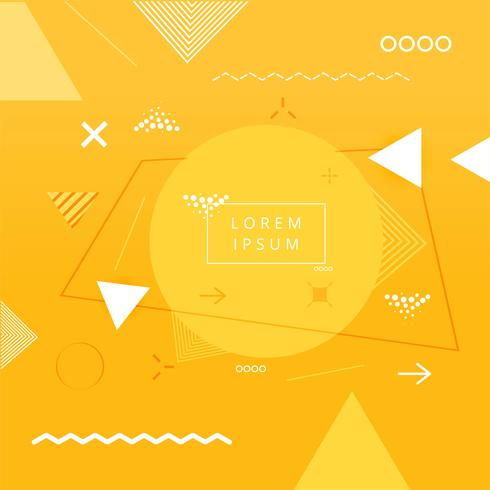 Abstrakter geometrischer bunter Design-Hintergrund Memphis vektor