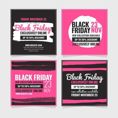 Vektor Black Friday-Social Media-Beitrag