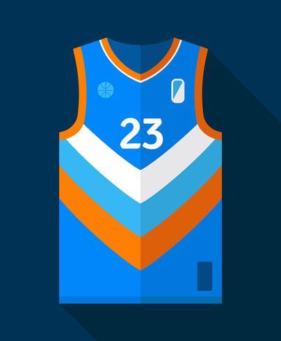 basket jersey mockup vektor