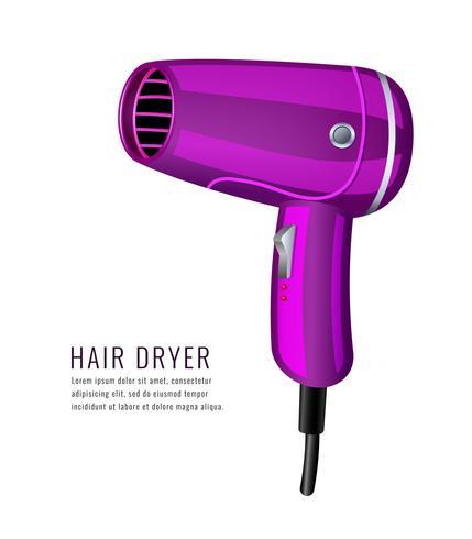 Realistischer Haartrockner-Salon vektor