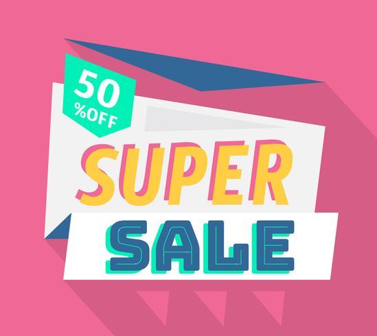 Superförsäljning vektor