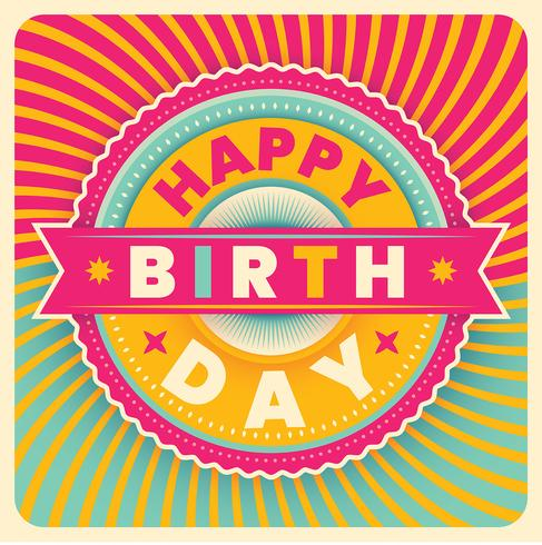 Geburtstagskarte vektor
