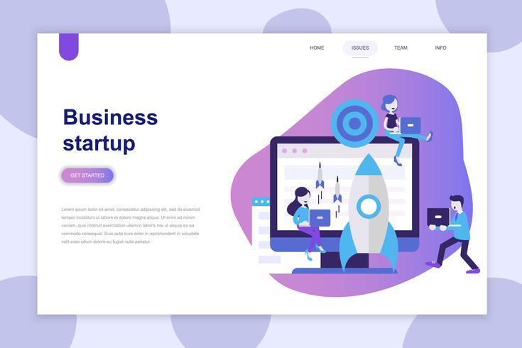 Modernt plandesignkoncept för Business Startup för webbplats och mobilwebbplats. Målsida mall. Kan användas för webb banner, infographics, hjälte bilder. Vektor illustration.