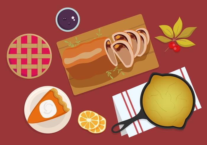 Thanksgiving-Dinner über Kopf vektor