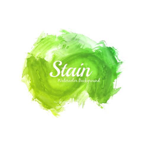 Abstrakt ljus grön akvarell fläck design vektor