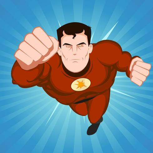 Roter Superheld vektor