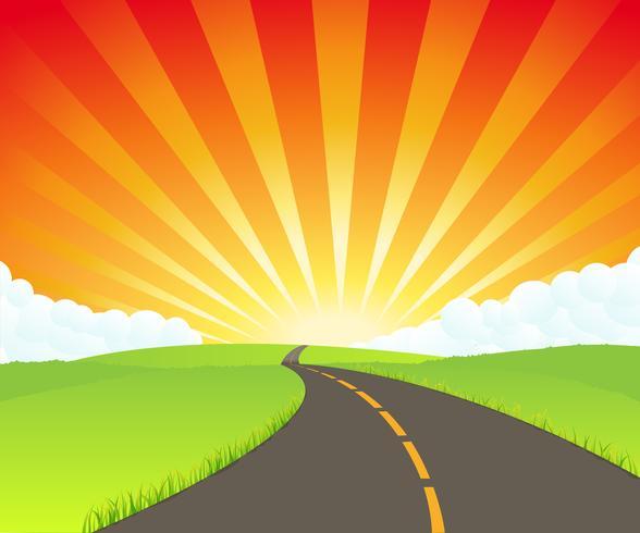Vägen till paradiset vektor