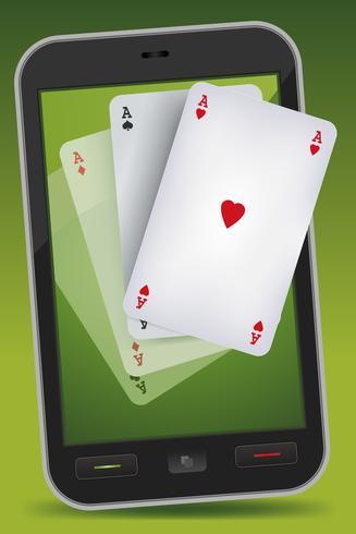 Smartphone Gambling - Fyra ess vektor