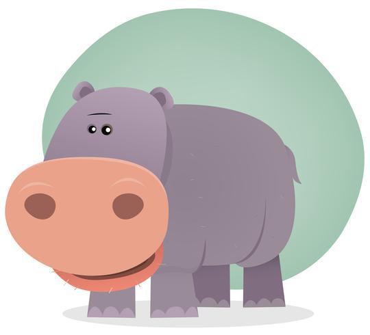 Niedliche Cartoon-Flusspferd vektor