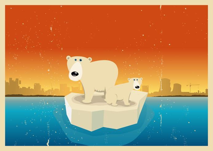 Folgen der globalen Erwärmung vektor