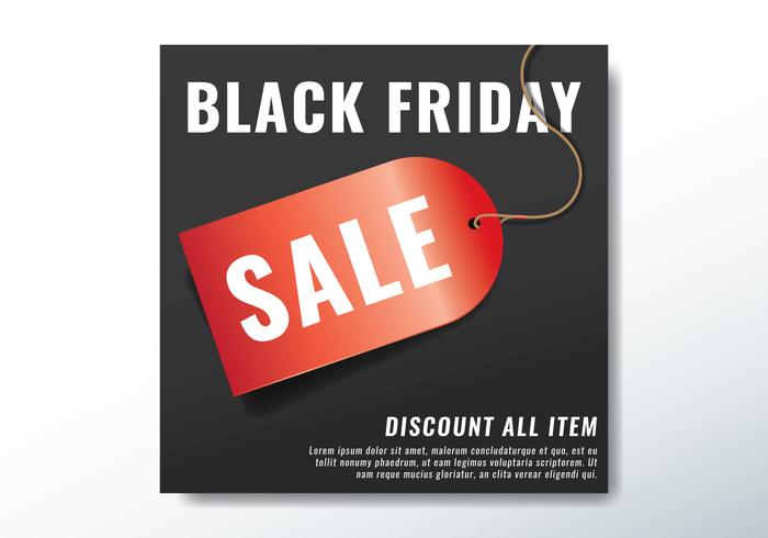 svart fredag sälj tagg vektor