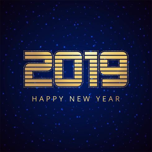 Celebration 2019 färgglatt lyckligt nytt år bakgrund vektor