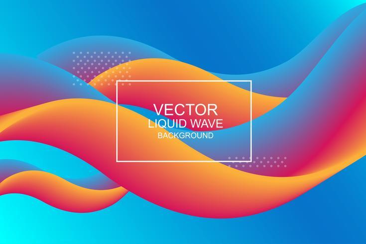 Dynamisk komposition. Modern design 3d flödesform. Vätskevåg bakgrunder. Vektor illustration.