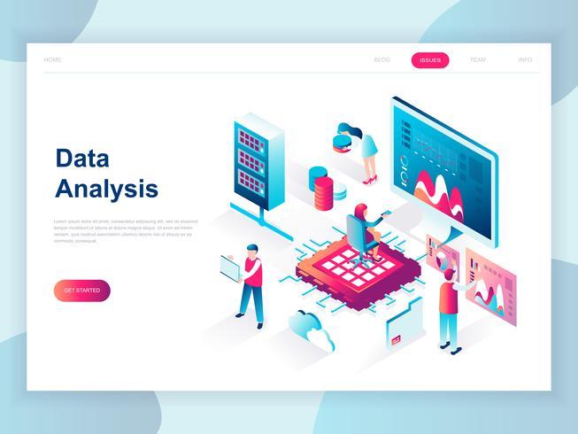 Isometrisches Konzept des modernen flachen Designs der Big Data-Analyse für Banner und Website. Isometrische Zielseitenvorlage. Digitale Informationstabelle und Statistikbudget. Vektor-illustration vektor