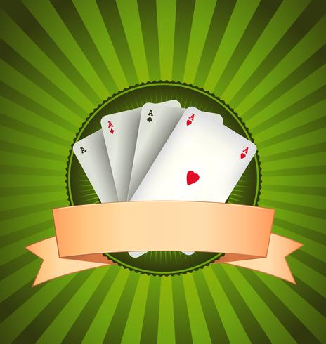 Kasino Poker Aces Banner vektor