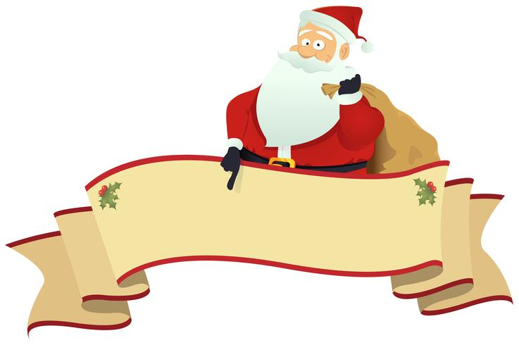 Santa's Scroll Banner vektor