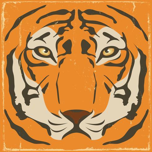 Weinlese-Tiger Stripes On Grunge Background vektor