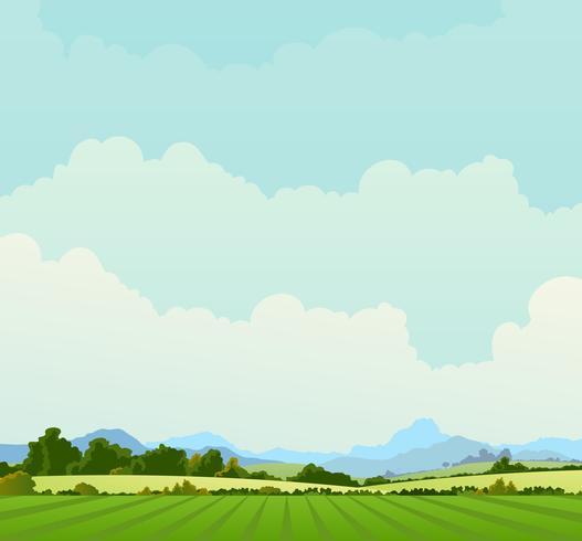 Land Landschaft Hintergrund vektor