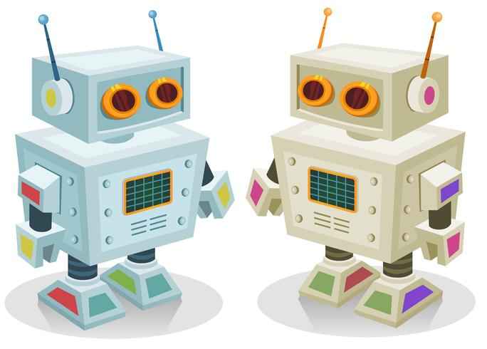 Roboter-Spielzeug für Kinder vektor