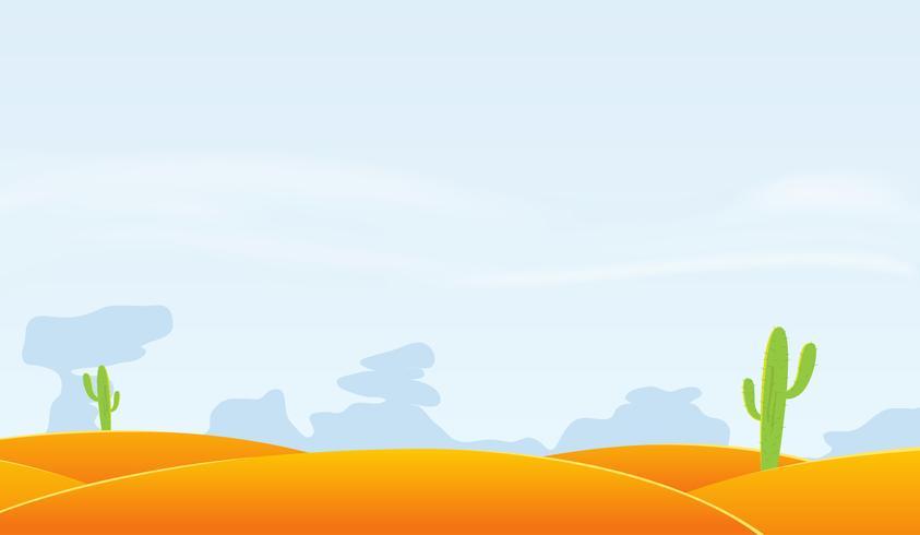 Wüstenlandschaft Hintergrund vektor