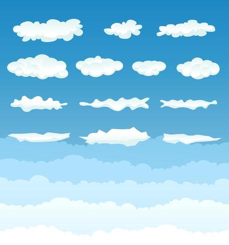 Wolken-Sammlung vektor
