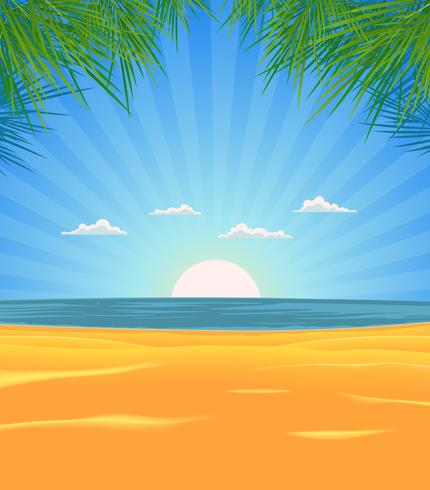 Sommerstrandlandschaft vektor