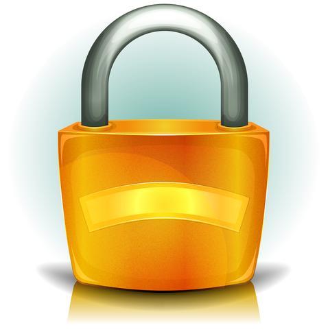 Vorhängeschloss-Sicherheits-Symbol vektor