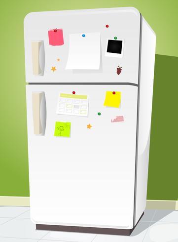 Kylskåp med anteckningar vektor