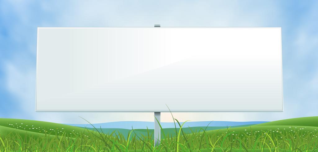 Frühling oder Sommer breite weiße Anschlagtafel vektor