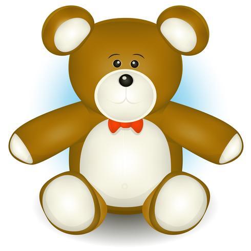 Netter Teddybär vektor