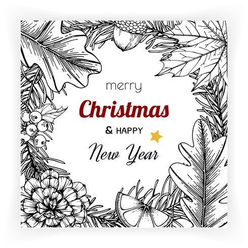 Jul och nyår bakgrunder och gratulationskort vektor